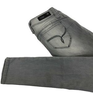 YMI Womens Jeans Gray Wanna Betta Butt? Stretch 7